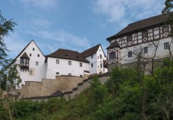 The Seeberg Castle is situated on a rocky promontory lined by the Schlada brook. (Photo by Ladi Tichá)
